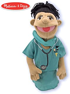 Melissa & Doug Surgeon Puppet with Doctor Scrubs and Detachable Wooden Rod for Animated Gestures^Melissa & Doug Surgeon Puppet with Doctor Scrubs and Detachable Wooden Rod for Animated Gestures