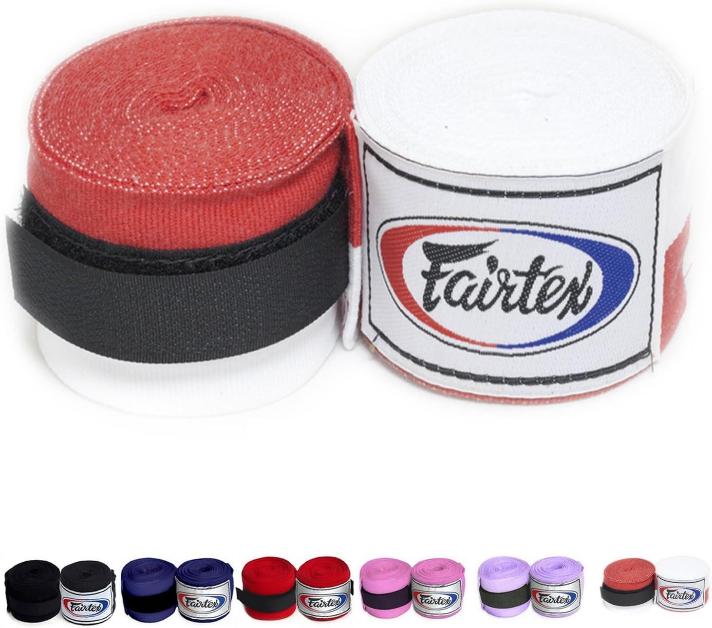 Fairtex Elastic Cotton Handwraps HW2 Wraps Color Max 72% OFF Blea Hand Black Max 61% OFF