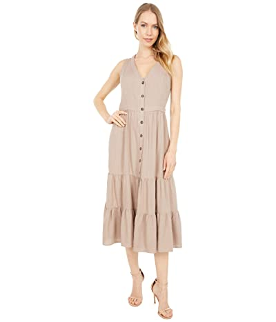 LOST + WANDER Weekend Bliss Midi Dress (Almond) Women