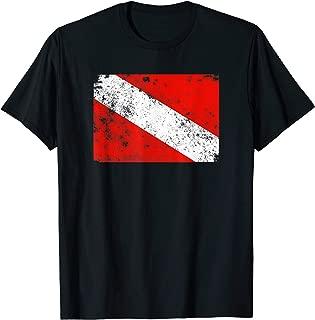 Retro Diver Down Flag Vintage Style Scuba T-Shirt