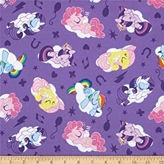 Springs Creative Products Hasbro My Little Sleeping Ponies Lavender Fabric by The Yard
