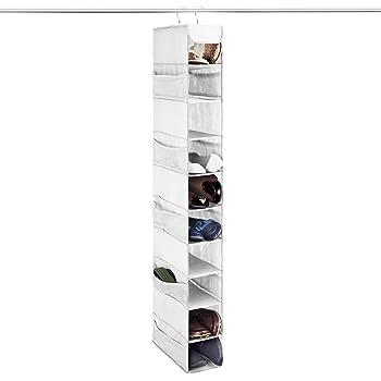 HVTKL Creative Hanging Shoe Rack Wall Hang Guardar Space Shoes Holder Color : Color White