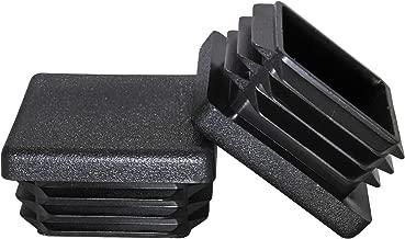 Prescott Plastics 1 1/4 Inch Square Plastic Plug, Tubing Post End Cap, Chair Glide (10)