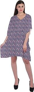 RADANYA Geometric Women's Casual wear Cotton Kaftans Swimsuit Cover up Caftan Beach Short Dress