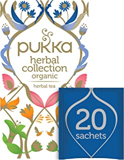 Pukka Herbs Collection, Selection of five Organic Herbal Teas, Elderberry & Echinacea - Lemon, Ginger and Manuka Honey - N...