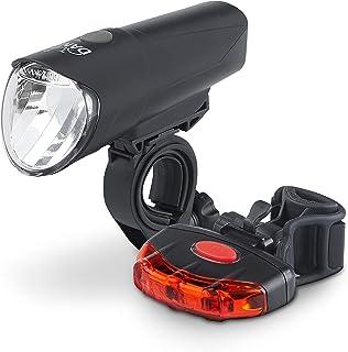 nero per adulti set di luci a LED per bicicletta DANSI 44003 unisex omologate StVZO sistema di controllo a batteria