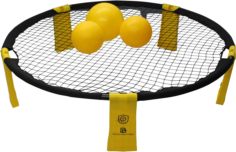 Bochamtec Strikeball 3 Ball Game Kit  Updated Bounce Net Includes Playing Net, 3 Balls, Carring Bag, Rule Book