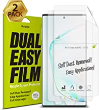 Ringke Dual Easy Film (2 Pack) Designed for Galaxy Note 10, Galaxy Note 10 5G Screen Protector (2019)