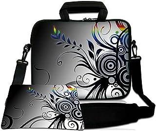 LUXBURG® 14,2 Pulgadas Bolso de hombro con diseño, Funda con Bandolera en Neopreno para Ordenador Portátil. Además alfombr...