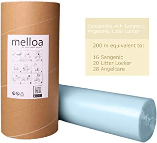 Universal Melloa Nappy Bin Liners Compatible with Nappy Disposal Systems : Tommee Tippee Sangenic Tec Twist and Click Ange...