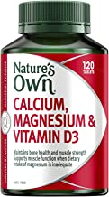 Nature's Own Calcium, Magnesium and Vitamin D3 - Helps Treat and Prevent Osteoporosis - Strengthens Bones and Muscles, 120 Tablets