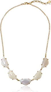 Lucky Brand Jewelry White Agate Collar Necklace, Gold