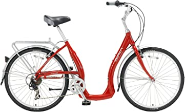 Biria Easy Boarding 7 Speed Step Through Cruiser Bicycle Red