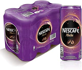 Nescafe Ready To Drink Mocha Chilled Coffee, 240ml Pack of 6