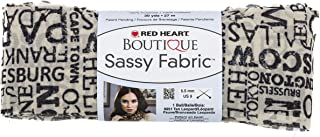 Coats: Yarn Red Heart Boutique Sassy Fabric Yarn, Newsprint