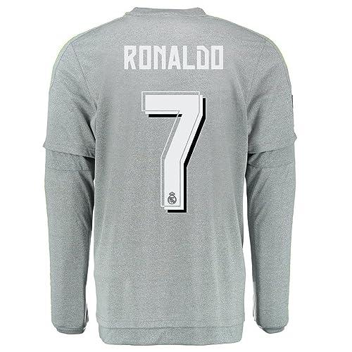 check out 1e59e fef84 Ronaldo 7 Real Madrid Away Soccer Jersey 2015 Long Sleeve (S)