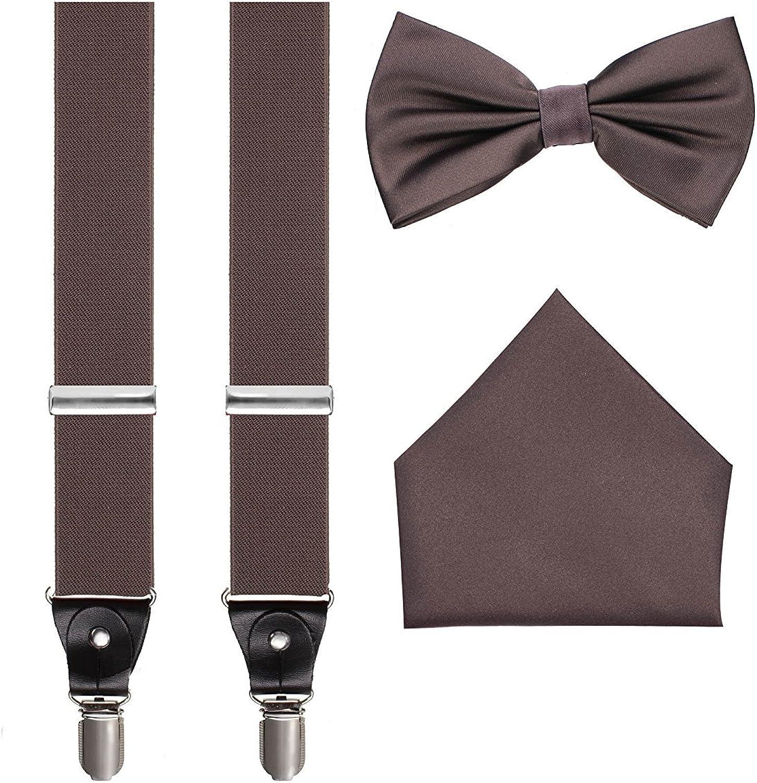 Men's 3pc Suspender Bow-Tie Handkerchief Set