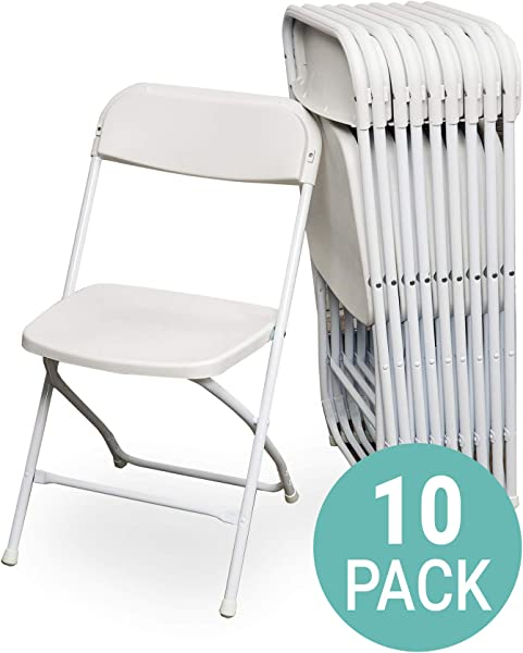 EventStable TitanPRO Plastic Folding Chair White 10 Pack
