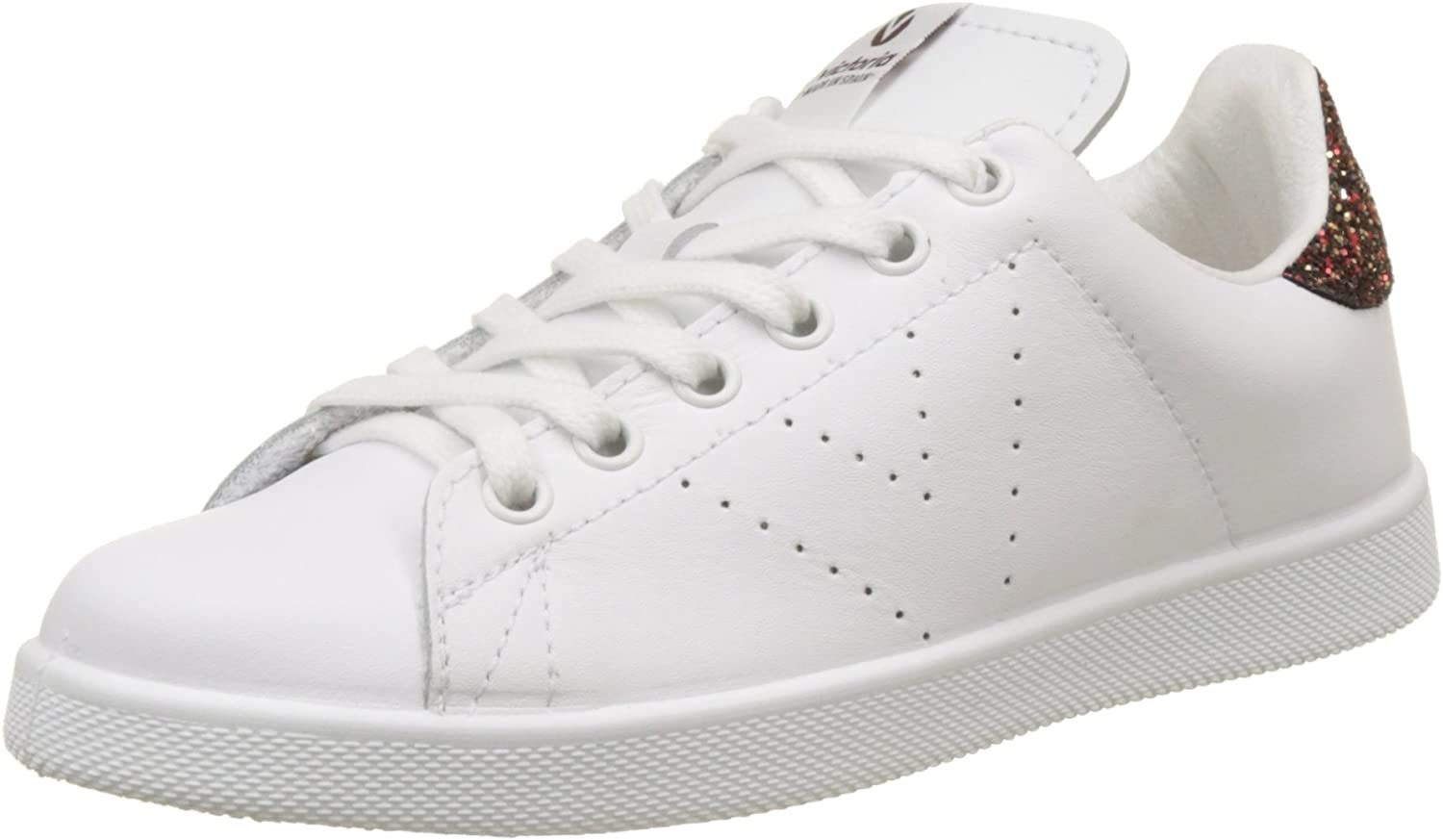Victoria Unisex Adults' Deportivo Piel Trainers, white Marino