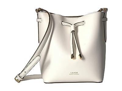 LAUREN Ralph Lauren Dryden Debby II Mini Drawstring (Vanilla/Field Brown) Handbags