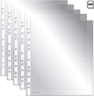 Fundas Perforadas Multitaladro OFITURIA® Para Folios y DIN A4, 100 Unidades, Fabricadas En Polipropileno (80 MICRAS)