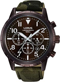 Lorus Casual Watch for Men, Round, Fabric, RT339FX9