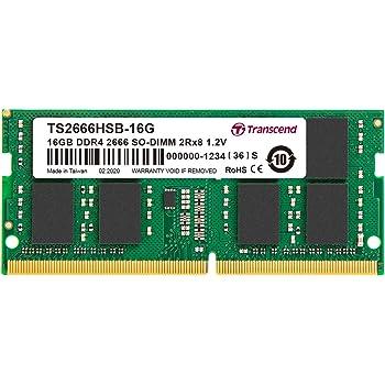 Transcend ノートPC用メモリ PC4-21300(DDR4-2666) 16GB 1.2V 260pin SO-DIMM 2Rx8 CL19 無期限保証 TS2666HSB-16G