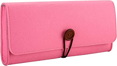 ProCase Carrying Case for Nintendo Switch, Portable Travel Carrying Bag Ultra Slim Professional Protective Felt Pouch for Nintendo Switch 2017 with 5 Game Cartridges Holders –Pink