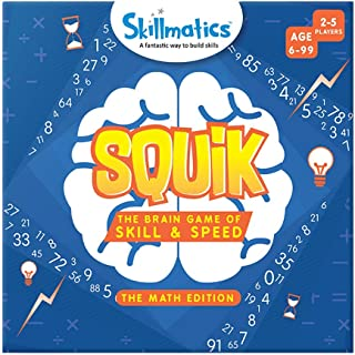 SQUIK: The Brain Game of Skill & Speed Math Edition (6 99 Years), multicolor, SKILL31SME