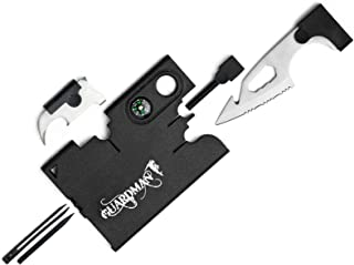 Guardman Upgraded 12 in 1 Tool Card with Fire Starter and Whistler Survival Credit Card Camping Knife Christmas Gifts for Men Stocking Stuffers For Him