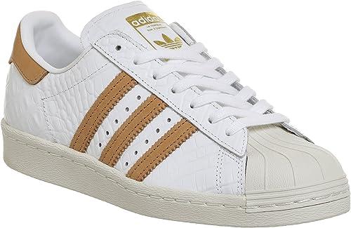 Adidas Pour des des des hommes Superstar 80s Footwear blanc Leather Trainers 37 1 3 EU 040