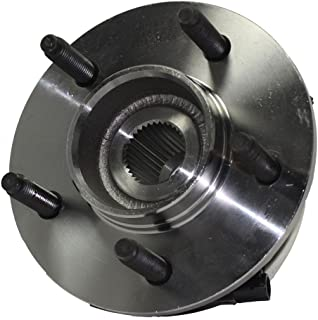 Detroit Axle - Front Wheel Hub and Bearing Assembly w/14mm Bolt Holes for 4x4 00-03 F-150 & 04 Heritage