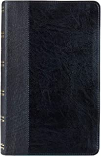 KJV Holy Bible, Giant Print Standard Bible, Black Faux Leather Bible w/Thumb Index and Ribbon Marker, Red Letter Edition, King James Version