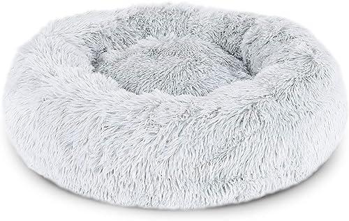 lionto by dibea Panier rond pour chien coussin pour chat panier donut Ø 120 cm (4XL) Gris clair