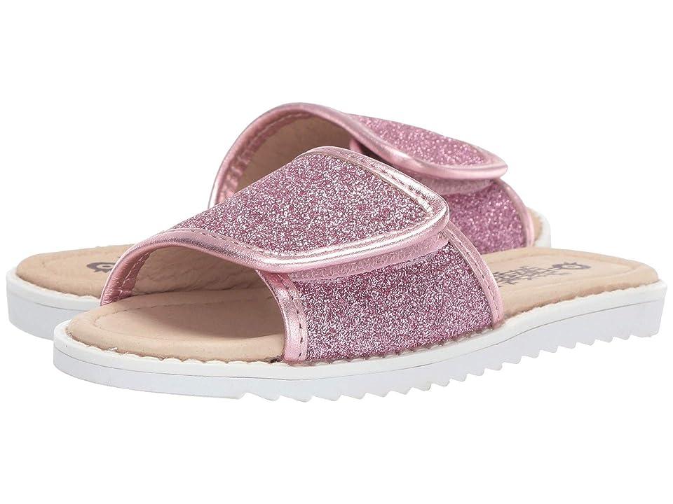Old Soles Glam Slides (Toddler/Little Kid) (Glam Pink/Pink Frost) Girl