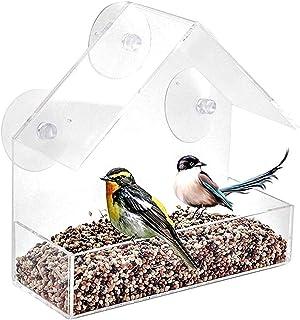 ZHANGXIAOYU Acrílico Transparente Ventana de observación de Aves alimentador de Aves Bandeja del alimentador Nido máquina ...