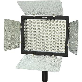 Yongnuo YN-600 LEDビデオライト 600球のLEDを搭載 カメラ&ビデオカメラ用 (AC電源アダプター付きYN-600, 5500Kのみ)