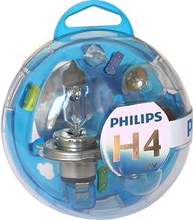 Philips Essential Box 55718EBKM: H4 P21W PY21W P21/5W W5W & 3ヒューズ 10/15/20A
