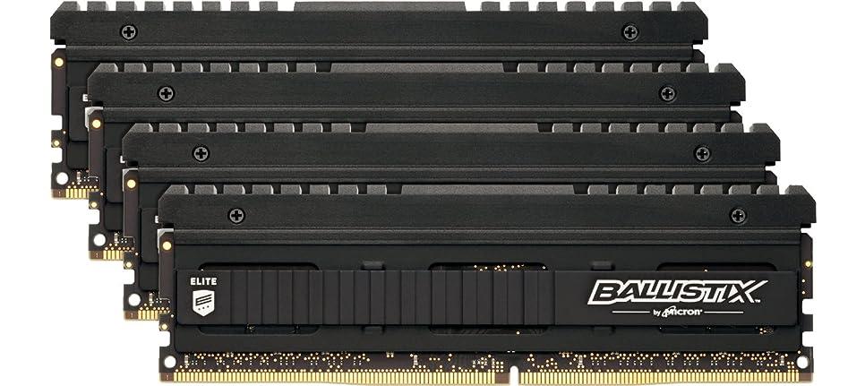 シャープカメ測定可能Crucial [Micron製] DDR4 デスク用メモリー 4GB x4 Ballistix Elite ( 2666MT/s / PC4-21300 / CL16 / 288pin / SR x8 / Unbuffered DIMM ) 永久保証 BLE4K4G4D26AFEA
