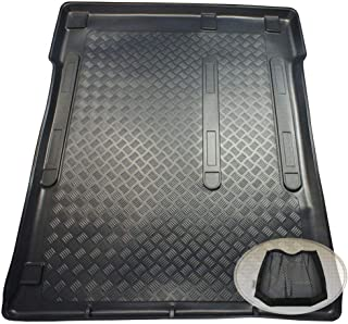 ZentimeX Z3318218 Geriffelte Kofferraumwanne fahrzeugspezifisch + Klett Organizer (Laderaumwanne, Kofferraummatte)