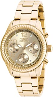 Invicta Angel Women's Gold Dial Stainless Steel Band Watch - 20266
