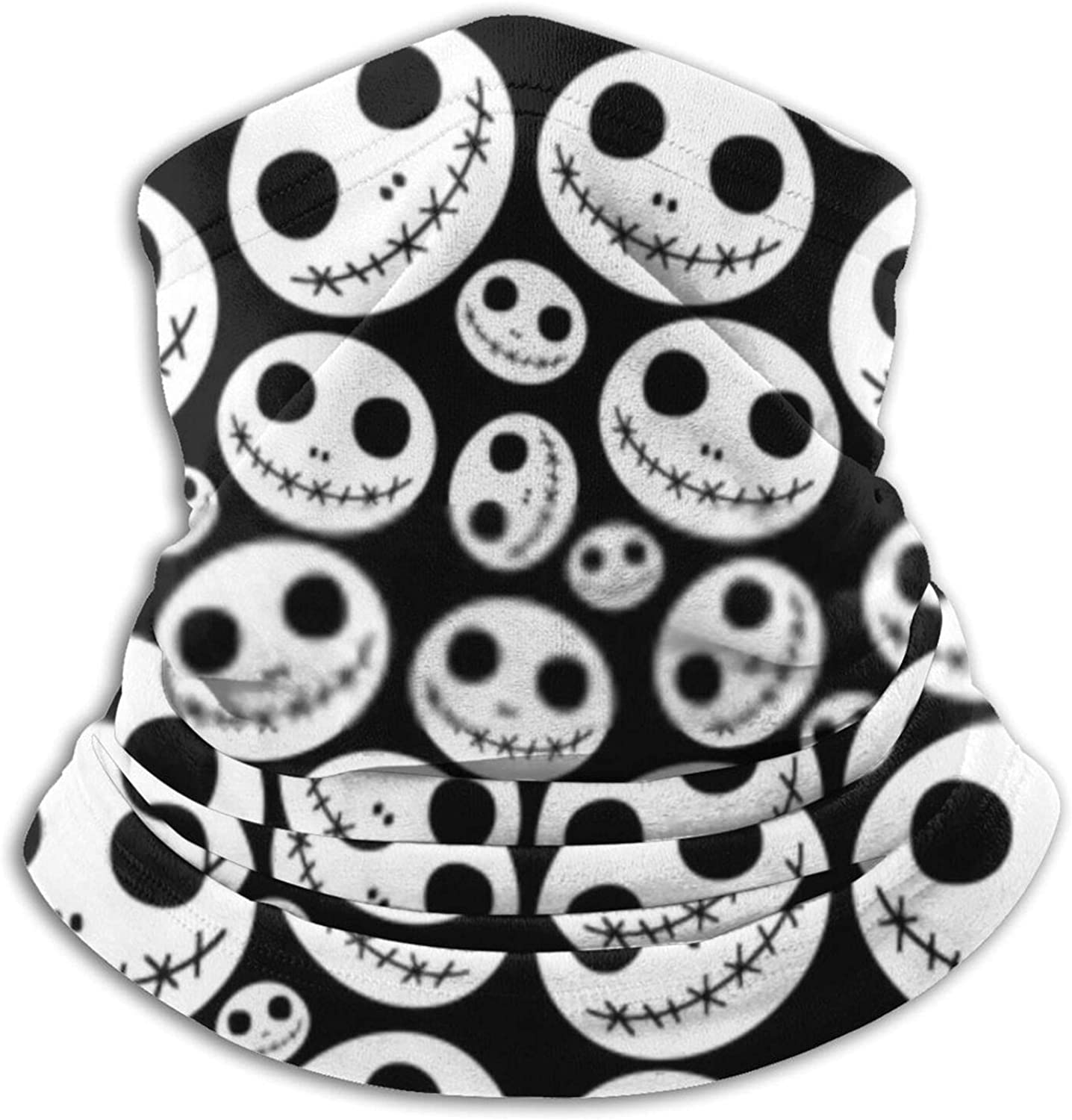 Max 42% OFF Halloween Pattern with Skeleton Faces Neck Fac Microfiber Max 90% OFF Warmer