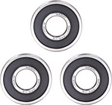 FGen 3pcs NACHI Nazhibi 6201-2RS Single Row Deep Groove Radial Ball Bearing, C3 Clearance,(12MMX32MMX10MM) Bearing High Speed Motor Water Pump