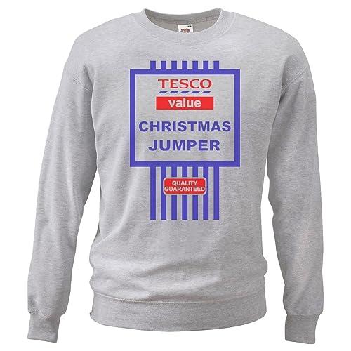 6d3ec51a Funny Christmas Tesco Value Cheesy Sweatshirt Jumpers