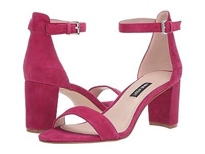 Nine West Pruce Block Heel Sandal (Raspberry) High Heels
