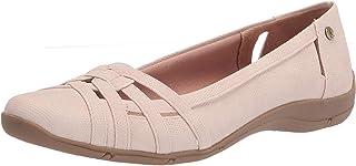 حذاء باليه مسطح من Life Stride نسائي متنوع، أحمر خدود، 8