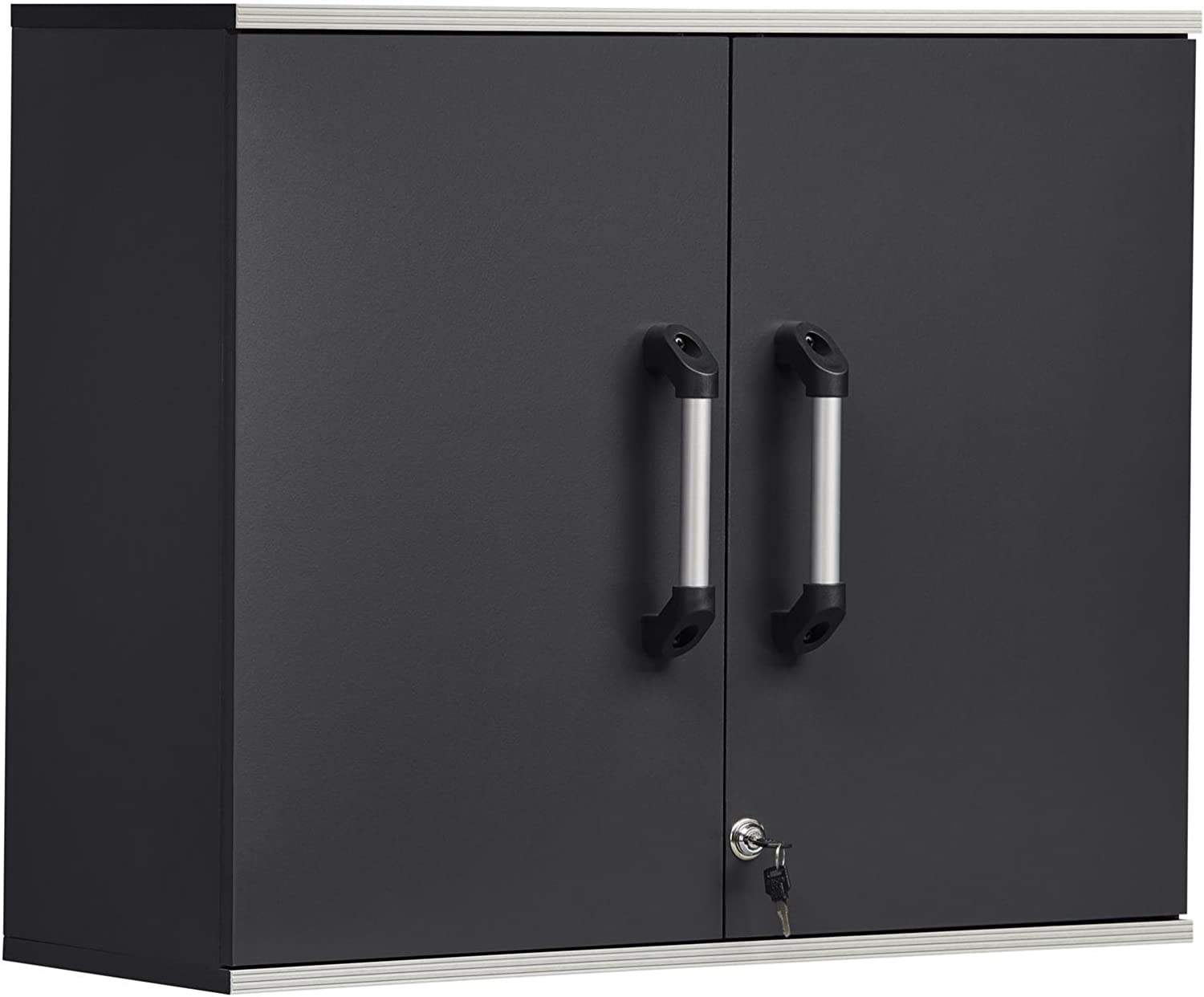SystemBuild Boss 2 Door and 1 Drawer Base Cabinet Charcoal Gray