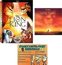Disney The Lion King: Original 1994 DVD Movie and Elton John Soundtrack CD Collection with Bonus Art Card