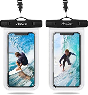 ProCase Universal Waterproof Pouch IPX8 Waterproof Cellphone Dry Bag Underwater Case for iPhone 11 Pro Max Xs Max XR X 8 7 6S+, Galaxy S10+ S9 S8+/Note10 10+ 5G 9, Pixel 4 XL up to 6.8