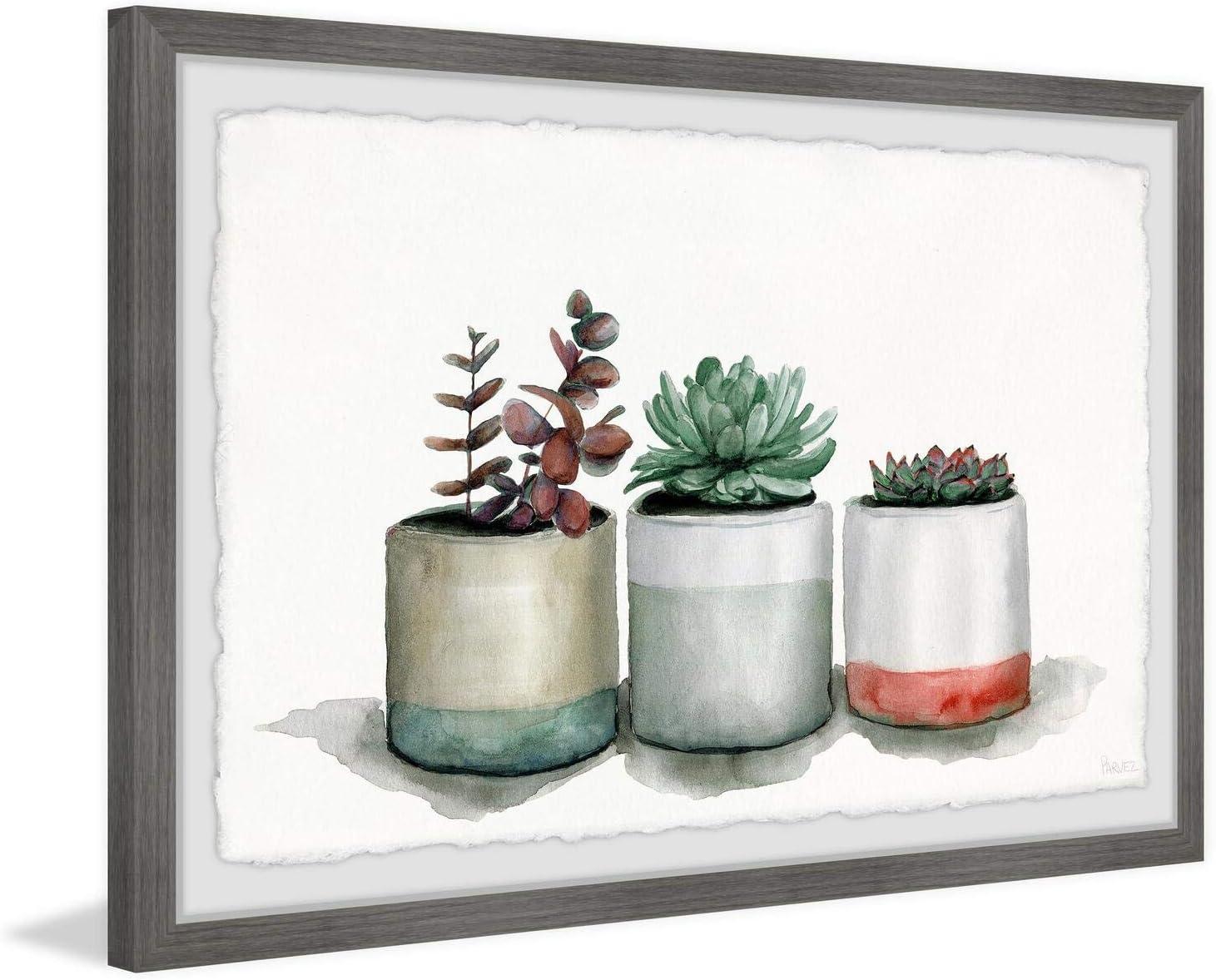 Parvez Taj Award Triple Cactus Limited time cheap sale Line Framed Print x 20